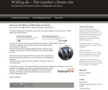 Blogengine blog theme - Blacknight